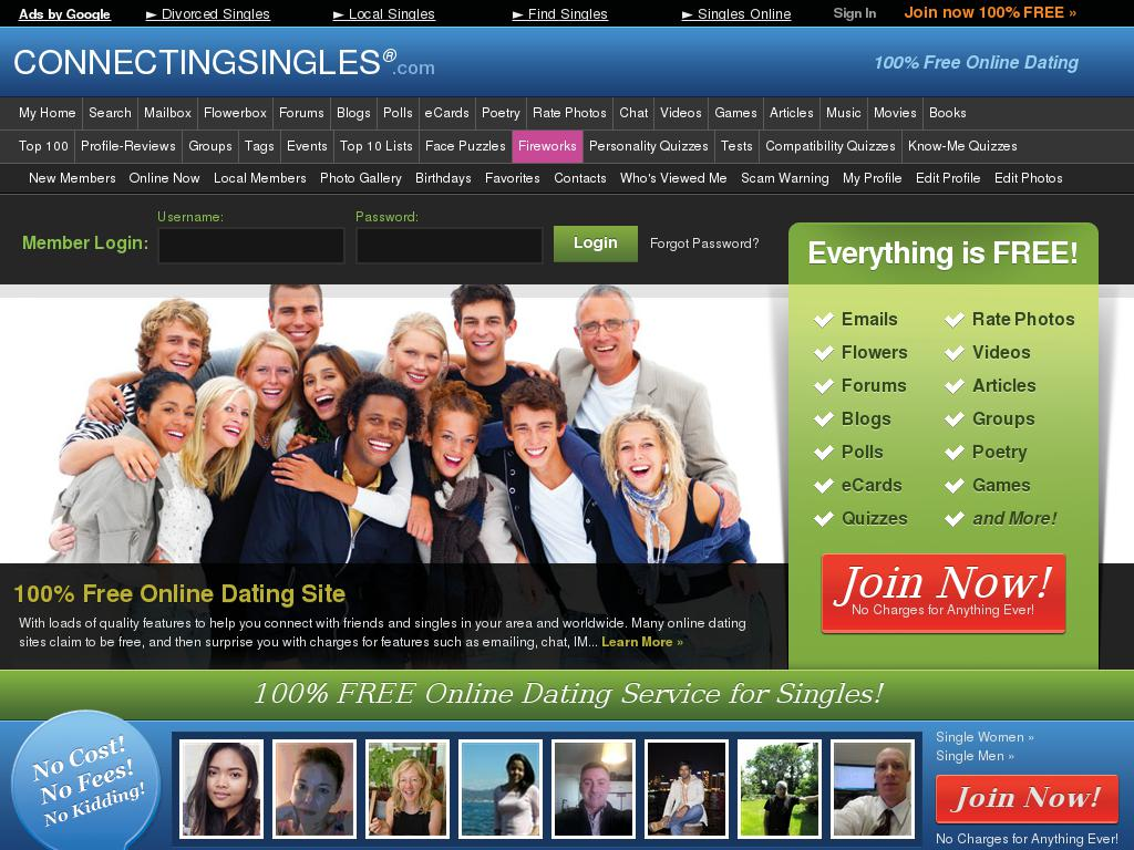 connectingsingles.com snapshot