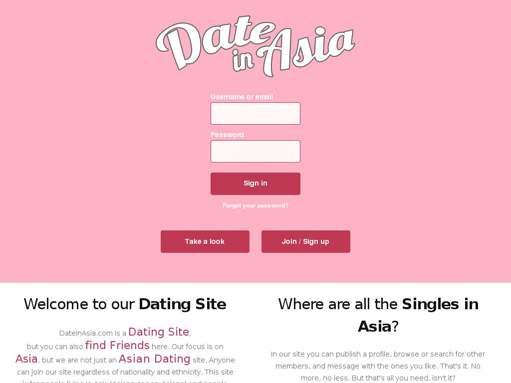 Date in asia sign up