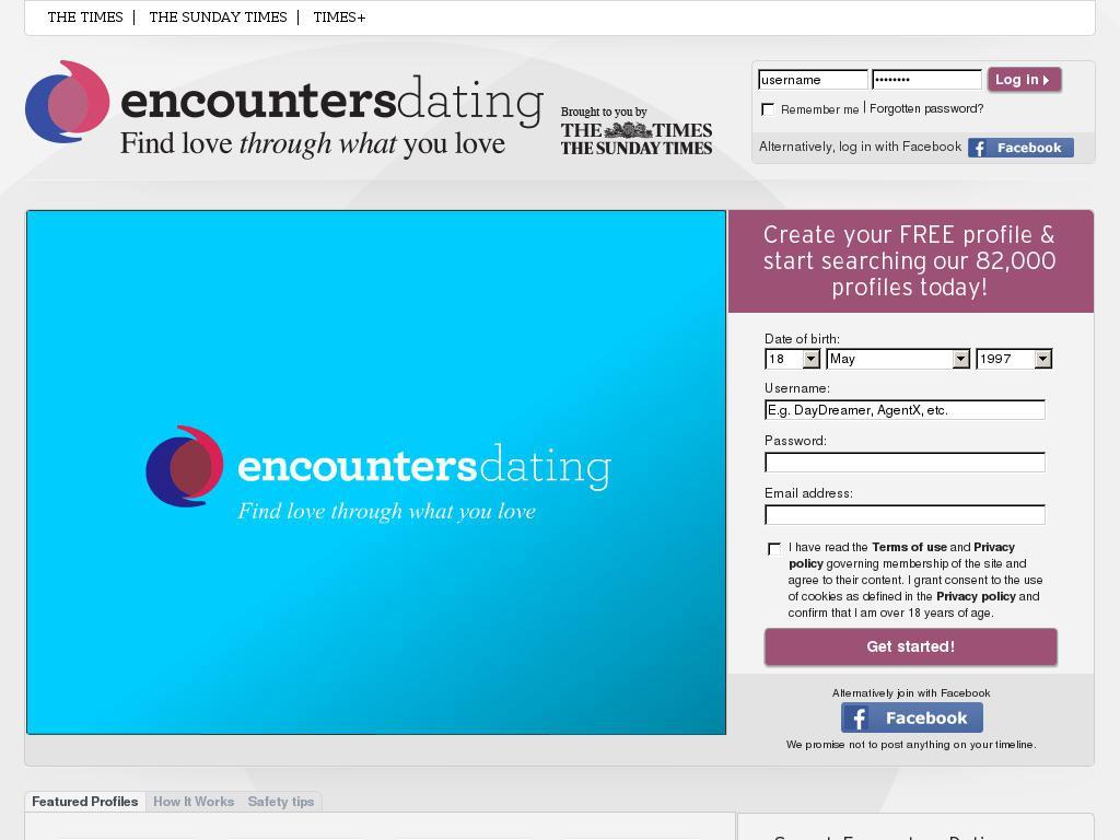 encounters dating login