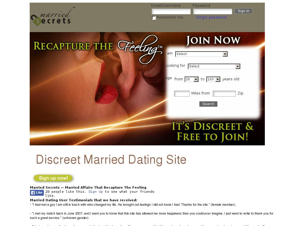 Affair dating websites