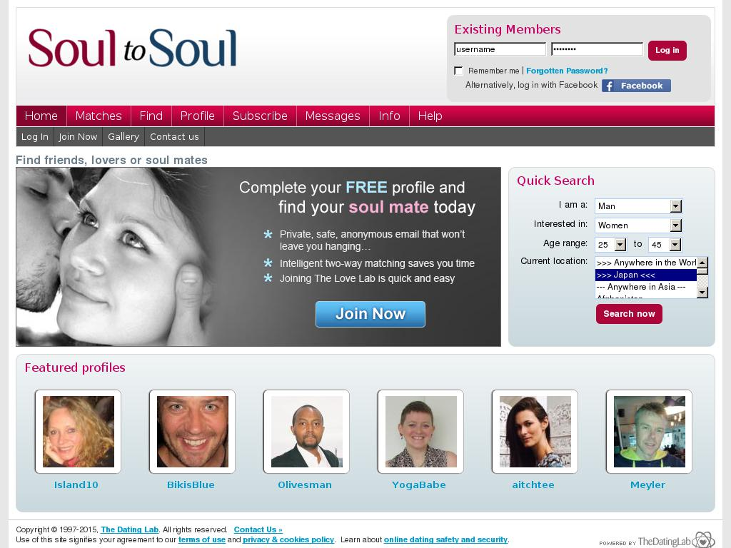soultosoul.co.uk snapshot