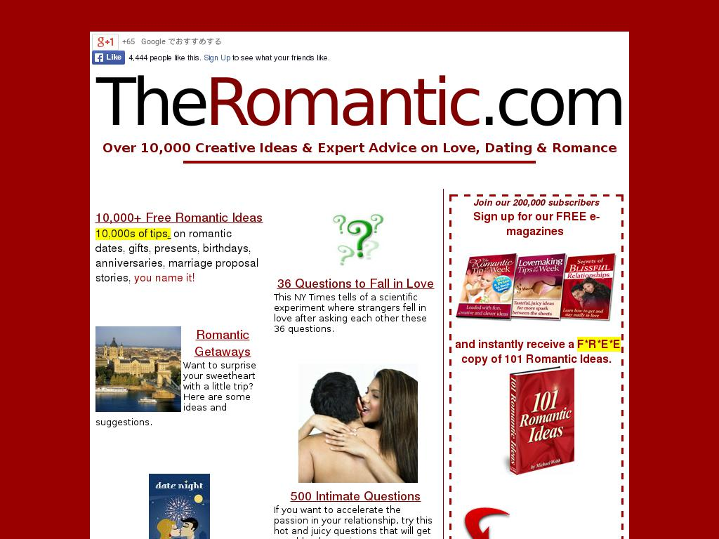 theromantic.com snapshot