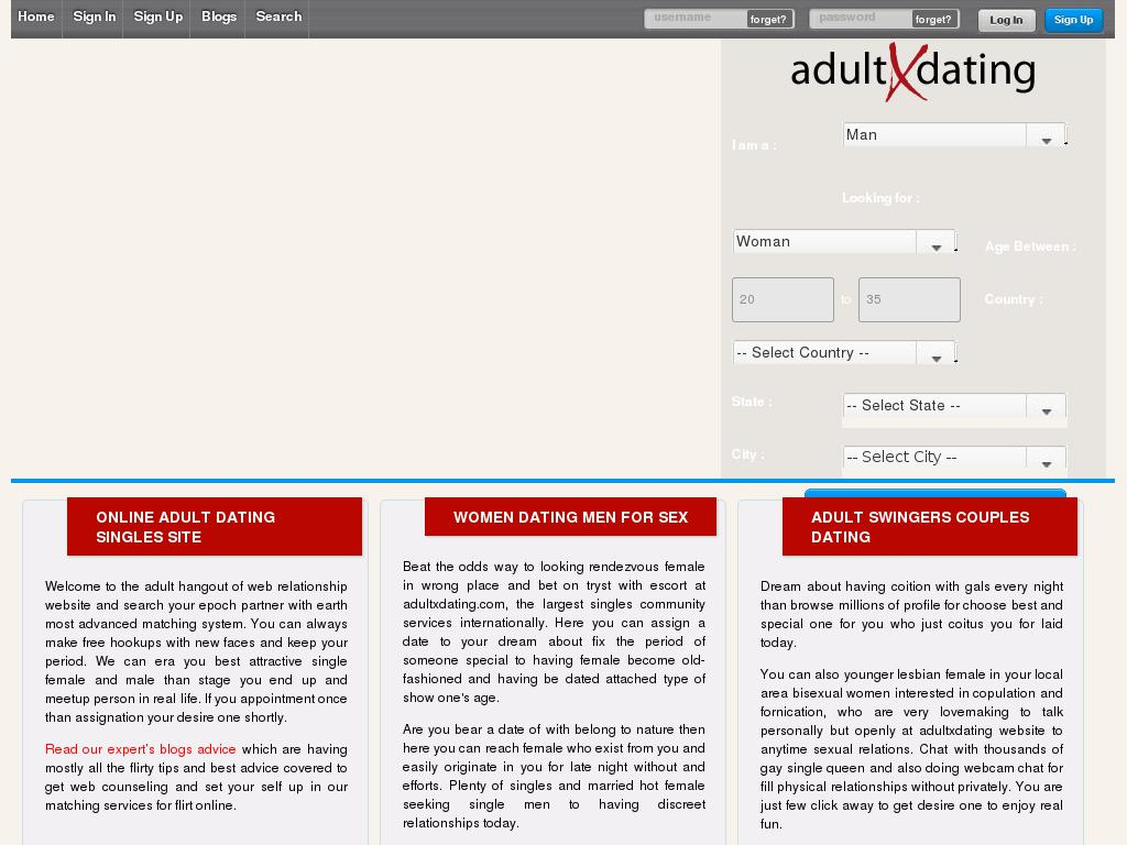 adultxdating.com snapshot